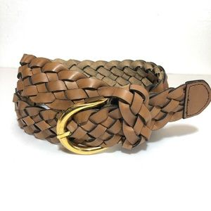 Vintage classic all leather woven belt.  38